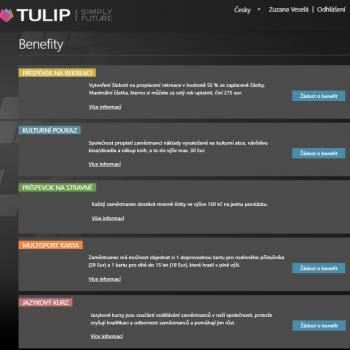 Náhled modulu Benefity v TULIPu